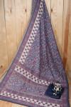 Linen cotton saree with zari work