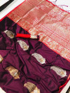 Kanchipuram silk handloom saree with silver and golden zari work