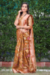 Soft banarasi silk saree with meenakari weaving work