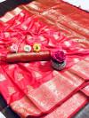 Banarasi silk saree with woven work
