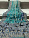 Ghicha silk saree with zari woven work