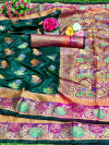 Soft banarasi lichi silk saree with rich pallu