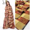 Soft banarasi cotton silk saree with meenakari weaving work