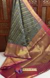 Kanchipuram handloom weaving silk saree with zari woven pallu