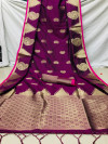 Banarasi silk weaving saree with rich pallu