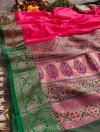 Banarasi silk saree with weaving work