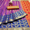 Lichi silk saree with zari woven rich pallu