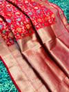 Kanchipuram silk handloom saree with zari weaving work