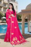 Soft silk weaving jacquard saree