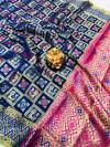 Lichi silk saree with golden zari weaving work