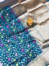 Rama green color kanchipuram silk saree with golden zari work
