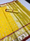 Lichi silk saree with silver zari work
