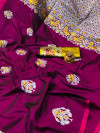 Soft silk saree with zari weaving rich pallu