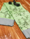 Soft linen silk printed saree