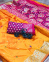 Soft banarasi silk saree with zari work