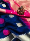 Soft lichi silk saree with rich pallu