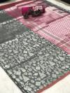 Cotton silk weaving jacquard saree