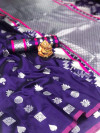 Soft lichi silk saree with zari weaving work