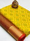 Yellow color soft banarasi patola saree