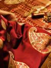 Soft banarasi silk saree with zari woven rich pallu