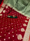 Soft banarasi silk saree with zari woven work