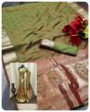 Soft satin silk saree with zari weaving work