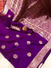 Soft banarasi cotton silk saree with zari weaving rich pallu