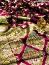 Magenta color pure silk saree with zari work