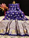 Soft banarasi silk saree with zari woven work