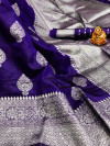Soft banarasi silk saree with zari weaving pallu