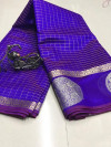 Soft linen silk saree