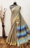 Chanderi cotton saree with zari work
