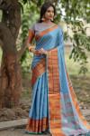 Soft art silk weaving saree with zari work