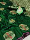 Soft lichi silk saree with zari woven work