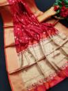 Soft banarasi silk saree with meenakari work