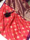 Soft silk saree with zari work