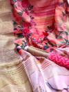 Banarasi silk zari weaving printed saree