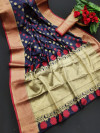 Soft banarasi silk saree with meenakari work