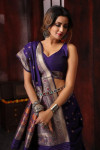 pure soft silk saree with zari and meenakari work