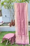 Metallic linen silk weaving saree with ikat woven work