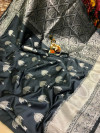 Soft silk saree with zari weaving work