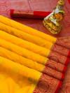 Dola silk jacquard weaving saree with zari work