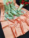 Banarasi silk saree with digital printed rich pallu