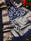 Mysore silk saree with zari woven work
