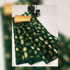 Pure satin silk saree with floral print