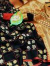 Lichi silk weaving saree with rich pallu