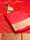 Soft banarasi cotton silk saree with zari work