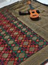 Soft banarasi silk saree with weaving work