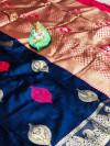 Banarasi handloom weaving silk saree with rich pallu
