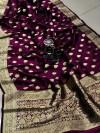 Banarasi soft silk handloom weaving saree